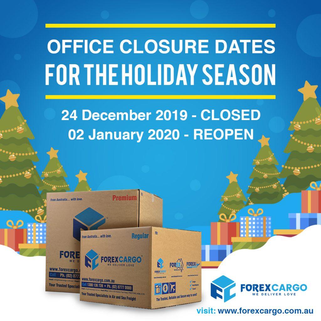 Forex holidays 2020